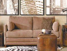 The simple, classic and comfortable design of the Softee Full Sleeper Sofa is available in gray microfiber or light brown corduroy. Also includes a full sleeper Full Sleeper Sofa, Queen Sofa Sleeper, Furniture Sale, Sofa Furniture, Beige Couch, Full Size Mattress, Living Room Sets, Modern Sofa, Jennifer Convertibles