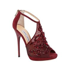 Wedding shoes burgundy jimmy choo 19 Ideas for 2019 Pretty Shoes, Beautiful Shoes, Cute Shoes, Me Too Shoes, Stilettos, High Heels Stiletto, Zapatos Shoes, Shoes Heels, Heeled Sandals
