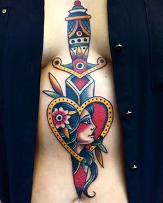 These couple tattoos ideas helps you to show off your love to the world. Here we share 34 lovely matching tattoos for couples and lovers. Traditional Dagger Tattoo, Traditional Tattoo Old School, Traditional Tattoos, Paar Tattoos, Tatuajes Tattoos, Tatoos, Daggar Tattoo, Snake And Dagger Tattoo, Travel Outfit Summer Airport