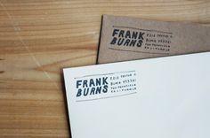 printable return address label - custom hand lettering - frank burns style. $15.00, via Etsy.