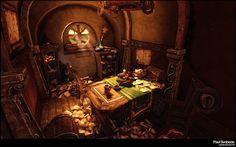 Hand Painted Study Picture big by Paulsvoboda Painting The hobbit Hobbit house
