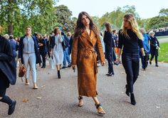 Suede coat - street style - statement coat