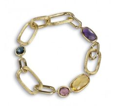 MARCO BICEGO 18K YELLOW GOLD MIXED STONE BRACELET FROM THE MURANO COLLECTION