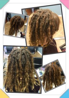 Before & After maintenance on just the roots and new grow area. Did nothing to the body of the dreadlocks.  #dreads #caucasiandreads #dreadlocks #hairllucinations #georgiadreadheads #dreadsinsuwanee #dreadlockmaintenance