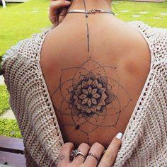 New Tattoo Mandala Nacken 26 Ideas Mandala Tattoo – Top Fashion Tattoos Spine Tattoos, Back Tattoos, Future Tattoos, Body Art Tattoos, New Tattoos, Small Tattoos, Sleeve Tattoos, Tattoo On Back, Tatoos