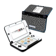 Nintendo 3DS XL Skin - Composition Notebook by DecalGirl Collective www.infinitzcomputeronlinestore.com