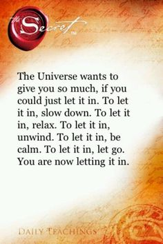 Let it in! The Secret & LOA