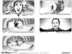 FamousFrames Storyboards, Animatic Artists, Storyboard Artists, Jarid Boyce