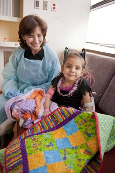 Downy will send you a quilt kit to sew for a kid who is in the hospital...what a great idea!