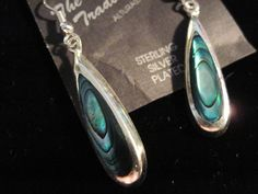 Blue, Drop/Dangle, Shell, Silver Plated Shell Upstream Trading Company Earrings #Unbranded