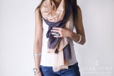 Layered scarves