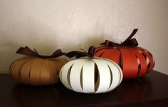 Easy and cute paper pumpkins!