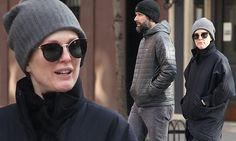 Julianne Moore enjoys wintry stroll with director husband in New York