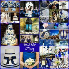 Royal Blue Ivory Wedding Inspiration