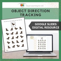 This digitally interactive resource is designed for use with Google Slides. This resource contains 10 slides in total. Answer sheets are included.The student must find all the objects that are facing the same way as the example at the top of the page, and drag the circles to mark the correct answers.