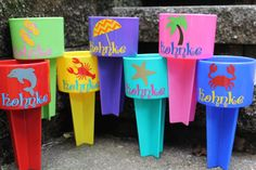 Ordered these for all of us:))  Hopefully they come in time.   Personalized Beach Spiker  Drink Holder