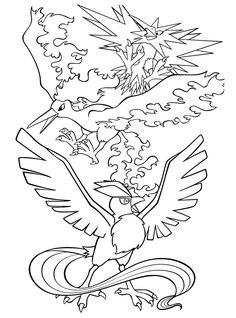 Pokemon Coloring Sheets For Kids Colouring Bird Pages