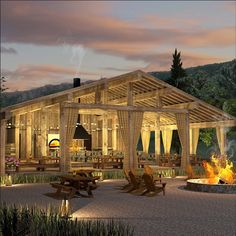 Our main lodge, featuring the Campfire Grill, will be our exquisite hub for dining and entertainment. Prepare for and unwind from a day of outdoor activity and adventure with brick oven gourmet pizzas, grilled steaks, Kobe beef hot dogs, fresh salads, raspberry shakes and more. Breakfast served daily. Expect a selection of fine wines & craft beers. #bearlake #utah #glamping #gardencity