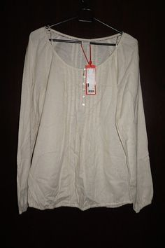 ESPRIT WOMEN'S TOP BLOUSE BEIGE Size 6 M BRAND NEW with TAGS BNWT SRP 40 EUR #Esprit #Blouse #Casual