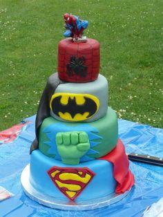 superhero birthday cakes cool-cakes