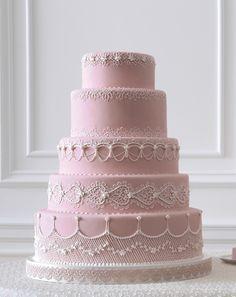Pink Cake with Lambeth Design