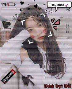 Cute Japanese Girl, Cute Korean Girl, Ulzzang Korean Girl, Ulzzang Couple, Cute Girl Face, Cool Girl, Girl Emoji, Uzzlang Girl, Foto Pose