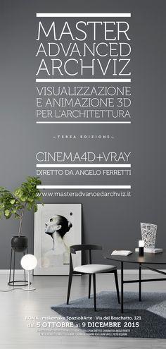 Iscrizioni aperte alla terza edizione del Master Advanced Archviz, il Master in Visualizzazione e Animazione 3D per l'Architettura con Cinema 4D + Vray diretto da Angelo Ferretti, che si svolgerà a Roma dal 5 ottobre al 9 dicembre 2015. Tutte le info su: http://www.masteradvancedarchviz.it