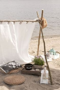 Head to the beach this summer for a picnic Beach Picnic, Beach Camping, Beach Party, Beach Tent, Summer Of Love, Summer Beach, Summer Time, Glamping, Strand Camping