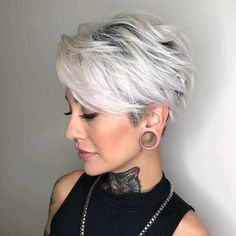 Latest Trend Pixie and Bob Short Hairstyles 2019 - Flattering Short Hairstyles T. - - Latest Trend Pixie and Bob Short Hairstyles 2019 - Flattering Short Hairstyles That Fit You Perfectly Short hairstyles are also trendy this year. Bob Haircuts For Women, Short Pixie Haircuts, Short Hairstyles For Women, Haircut Short, Hair Styles Short Women, Short Hair Cuts For Women Over 50, Girl Haircuts, Haircut Bob, Long Pixie Hairstyles