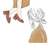 "Check out new work on my @Behance portfolio: ""Polka Dots"" http://be.net/gallery/62546439/Polka-Dots Fashion Illustration, Polka Dots"