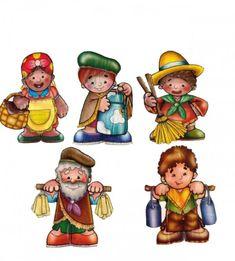 Resultado de imagen para pregones de la epoca colonial English Activities, Kokeshi Dolls, Gaston, Bowser, Winnie The Pooh, Diy And Crafts, Disney Characters, Fictional Characters, Kindergarten