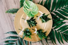 What do you do when you want a greenery themed wedding in the middle of winter? You create a tropical wonderland filled with fern and foliage indoors! Tropical Wedding Centerpieces, Tropical Weddings, Groom Boutonniere, Boutonnieres, Wedding Theme Inspiration, Wedding Ideas, Floral Wedding, Wedding Flowers, Nosara