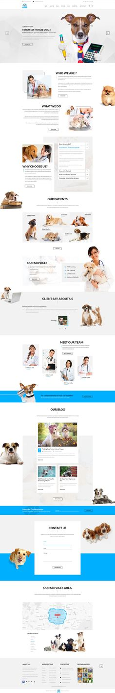 PetService is a PSD template designed specifically for pet services. This is a clean and modern template with 19 PSD files include. You will have 3 options for homepage. Its easy to edit and good choice for your business. #psdtemplate #iloveanimals #petclinic