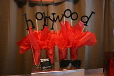 Decor at a Hollywood Party #hollywoodparty #decor