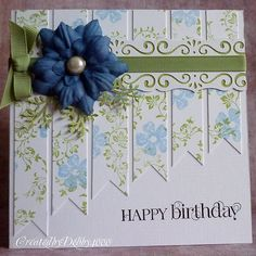 Another card cased from a card found on Pinterest, I seen a couple similar to this one . I'm not keen of Kraft card so I didn't want to use...