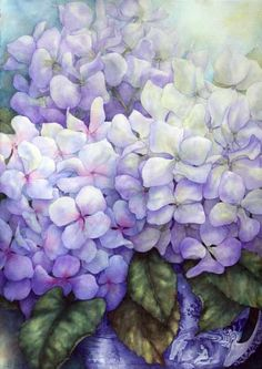 buy Hydrangeas by Pamela Sackville art online