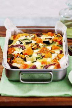 Pumpkin Recipes, Vegetable Recipes, Vegetarian Recipes, Healthy Recipes, Vegetarian Bake, Tray Bake Recipes, Cooking Recipes, Baked Dinner Recipes, Baked Vegetables