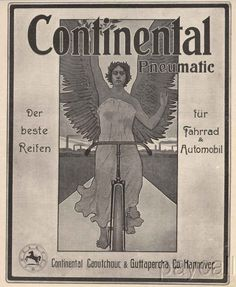 Continental Pneumatic ad from 1903. #continental  #continentaltire  #tires  #1900s  #vintagead