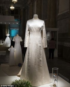 The exhibition celebrates the 40th wedding anniversary of King Carl Gustav and Queen Silvia and includes Silvia's own wedding gown