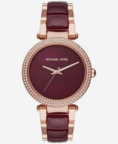Michael Kors Womens Parker Two-Tone Stainless Steel and Acetate Bracelet Watch 39mm MK6412  Relojes Michael Kors  In Our Blog much more Information http://storelatina.com/chile/relojes
