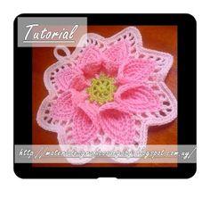 Materiales gráficos Gaby: Flores tutoriales en crochet