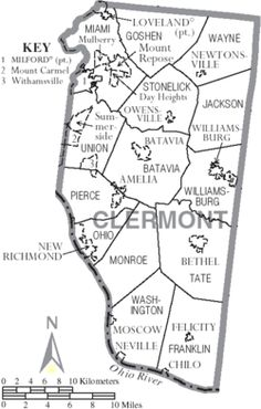map of townships in Clermont County, Ohio - Wikipedia #samuelanderson #sarahanderson #mahlonanderson