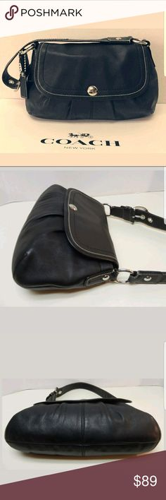 Christmas Wife Coach Black Leather Shoulder Coach Pleated Soho Black Leather Shoulder Bag Coach Bags