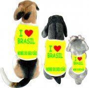 Camisetas da Hora - Camisetas Engraçadas, Estilosas e Inteligentes. Camiseta, Camisetas,: Cãomisetas - I Love Brasil