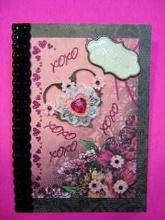 Anniversary Lace Heart handmade card