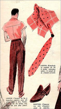 The 1930s-1939 summer fashion for men
