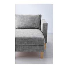 KARLSTAD Three-seat sofa and chaise longue, Isunda grey - Isunda grey - IKEA