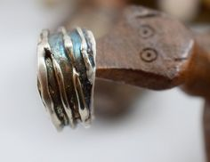 Handmade Silver Ring Lost Wax Technique by DeniceArtMetalsmith
