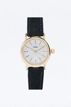 Reflex Suede Strap Watch in Black