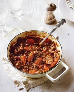 Meaty, comforting cooking is one of the pleasures of the cooler months. This stew recipe is quick to put together but it does have a lengthy cook time